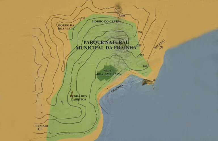 mapa do parque natural municipal da prainha rj