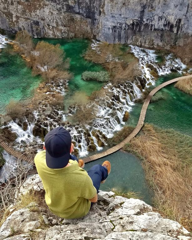 Mirante do Plitvice Lakes